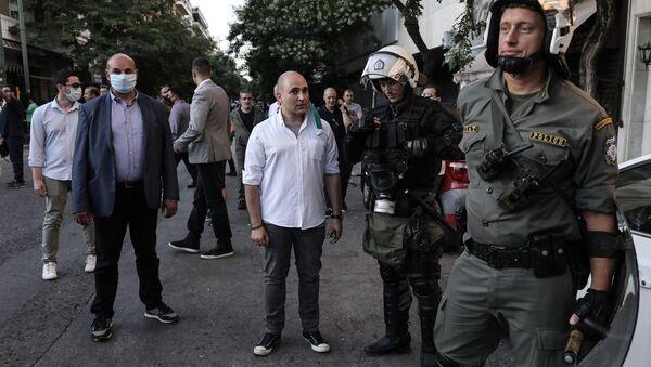 Ο Κωνσταντίνος Μπογδάνος στην πλατεία Βικτωρίας - Sputnik Ελλάδα