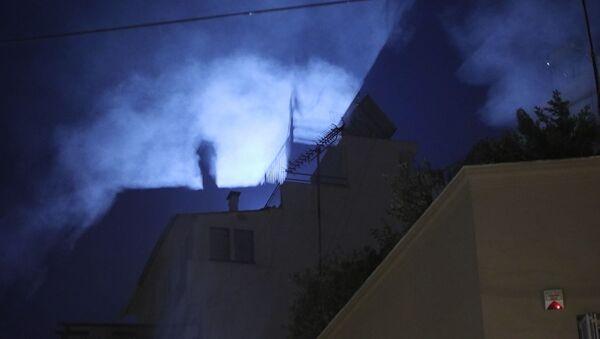 Κτίριο στο Κουκάκι την νύχτα - Sputnik Ελλάδα