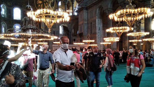 Η πρώτη μουσουλμανική προσευχή στην Αγία Σοφία ως τζαμί, 24 Ιουλίου 2020 - Sputnik Ελλάδα
