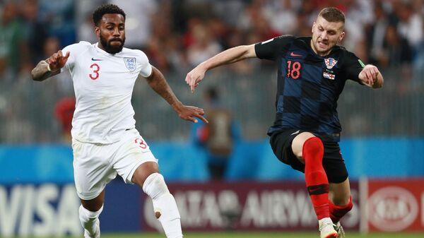 Αριστερά ο Ντάνι Ρόουζ στον αγώνα Αγγλία - Κροατία - Sputnik Ελλάδα