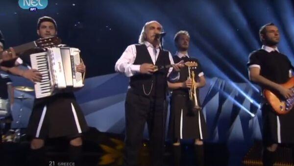 Η εμφάνιση του Αγάθωνα Ιακωβίδη στη Eurovision - Sputnik Ελλάδα