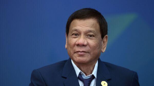 Ο Πρόεδρος των Φιλιππίνων Ροντρίγκο Ντουτέρτε - Sputnik Ελλάδα