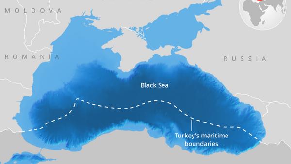 Οι περιοχές θαλάσσιας δικαιοδοσίας της Τουρκίας στη Μαύρη Θάλασσα όπως καθορίστηκαν το 1986 - Sputnik Ελλάδα