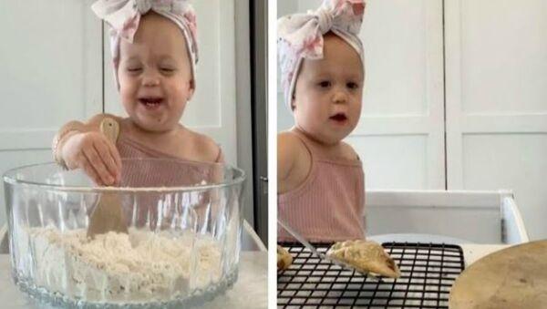 Η μικρούλα Έλα από το Μιζούρι των ΗΠΑ φτιάχνει τα πιο τέλεια μπισκότα - Sputnik Ελλάδα