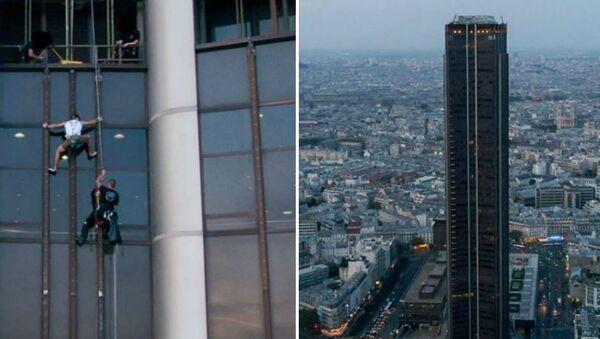 Πολωνός ορειβάτης συλλαμβάνεται ενώ αναρριχάται στον πύργο Montparnasse στο Παρίσι - Sputnik Ελλάδα
