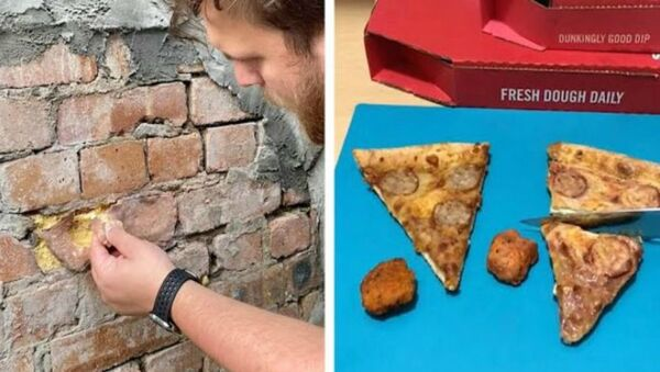 Σουρεαλιστικές τούρτες μοιάζουν με τούβλα και πίτσες - Sputnik Ελλάδα