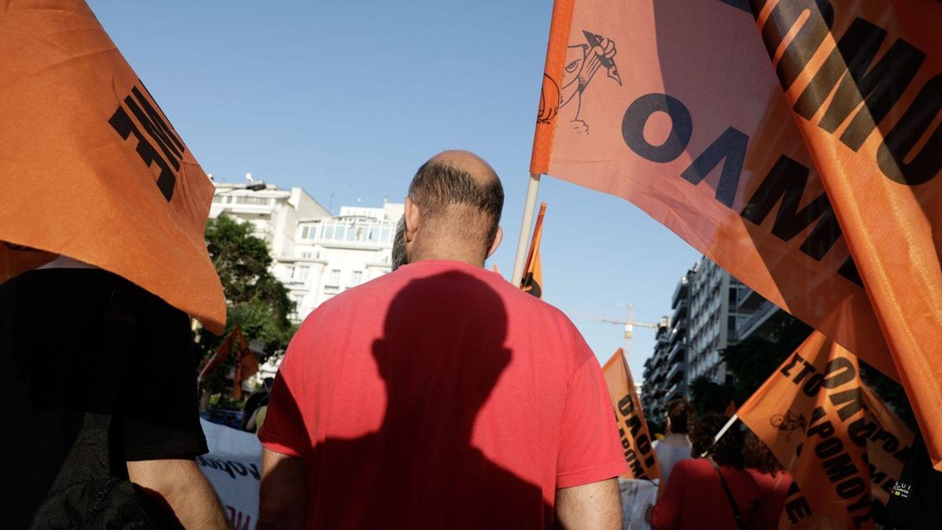 Συλλαλητήριο εκπαιδευτικών στο κέντρο της Αθήνας - Sputnik Ελλάδα, 1920, 11.10.2021