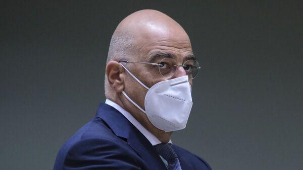 Ο Νίκος Δένδιας στο Συμβούλιο των ΥΠΕΞ της ΕΕ στις Βρυξέλλες - Sputnik Ελλάδα