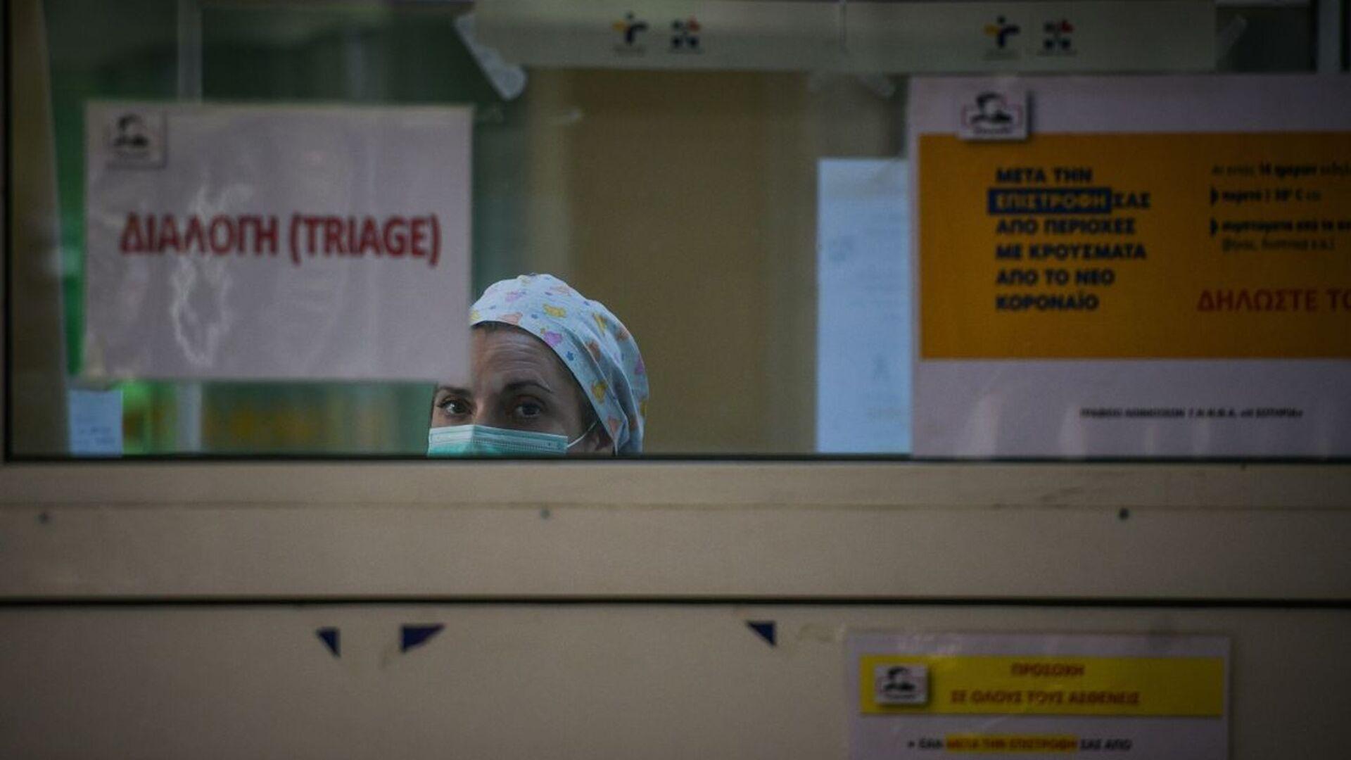 Εργαζόμενη στο νοσοκομείο Σωτηρία - Sputnik Ελλάδα, 1920, 30.08.2021