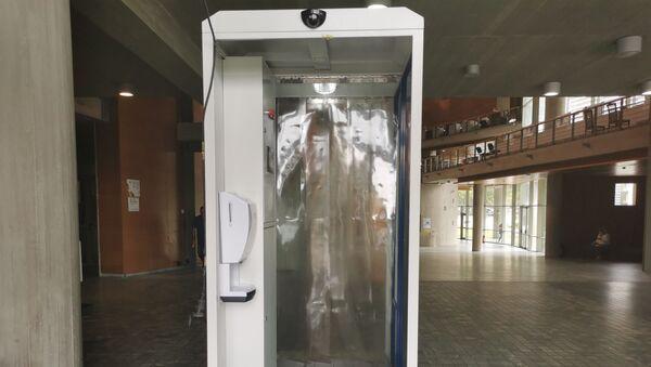 Τούνελ απολύμανσης κατά του κορονοϊού στο Δημαρχείο Θεσσαλονίκης - Sputnik Ελλάδα