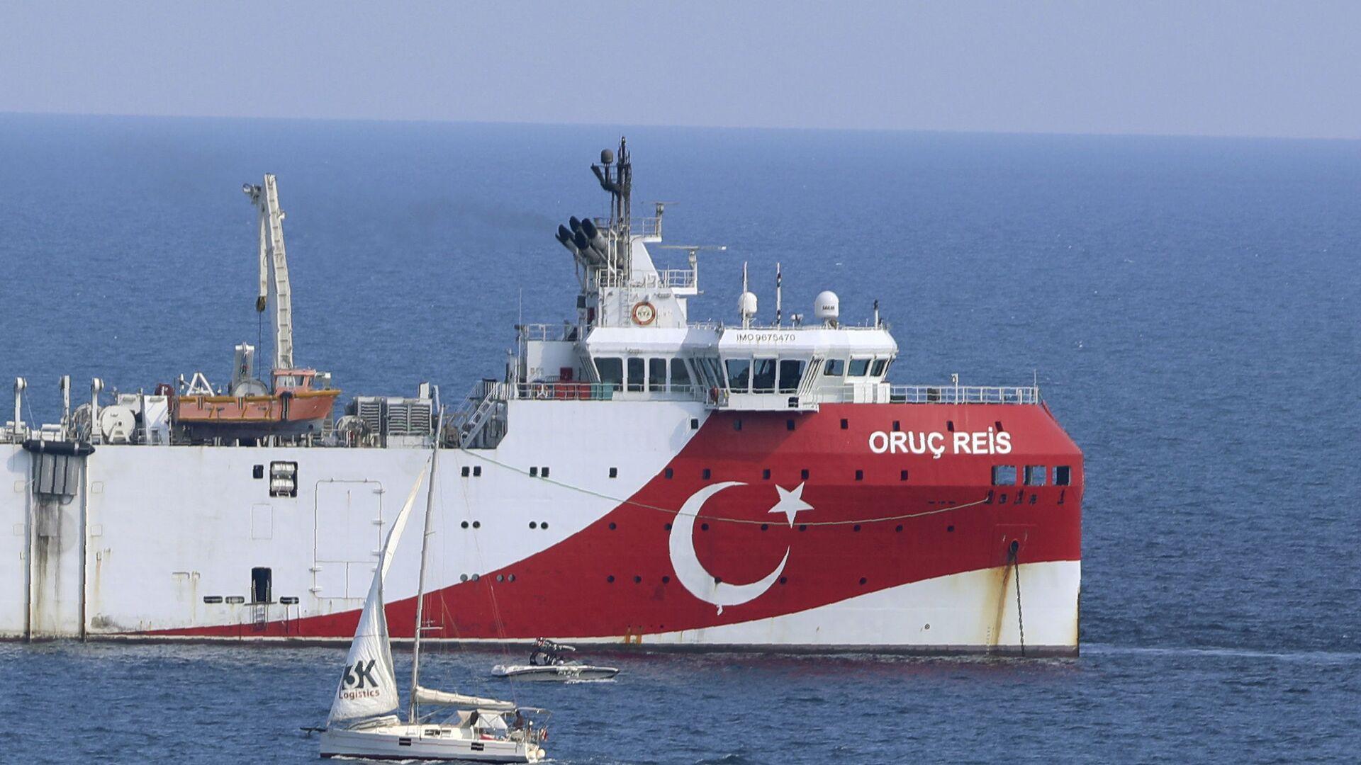 Το τουρκικό ερευνητικό σκάφος Oruc Reis - Sputnik Ελλάδα, 1920, 07.10.2021