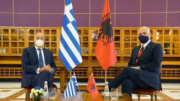Νίκος Δένδιας και Έντι Ράμα - Sputnik Ελλάδα