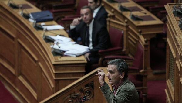 Τσακαλώτος και Σταϊκούρας στη Βουλή - Sputnik Ελλάδα