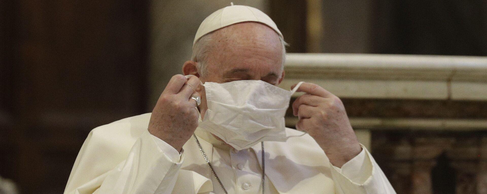 Ο Πάπας Φραγκίσκος με μάσκα - Sputnik Ελλάδα, 1920, 30.09.2021