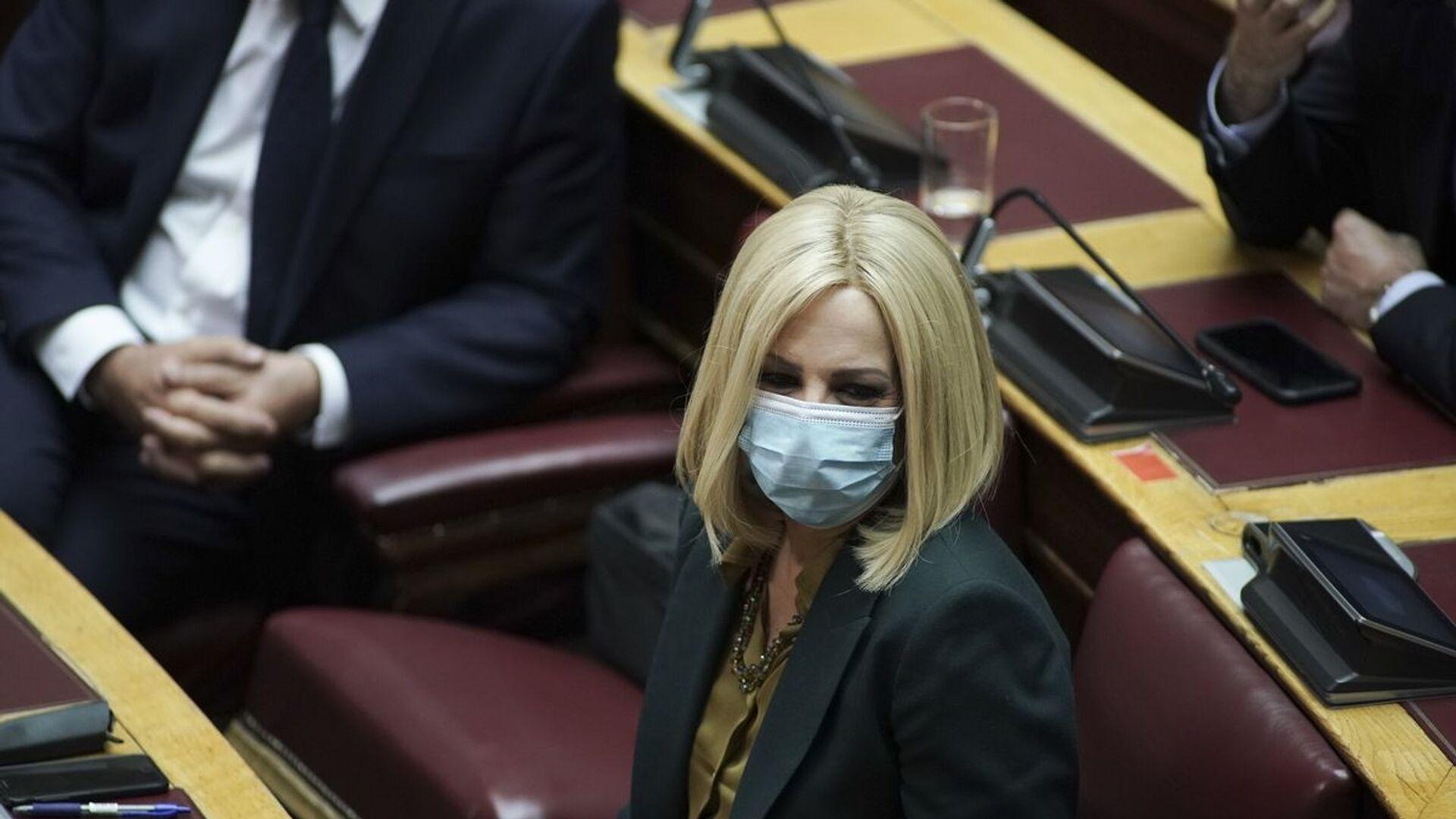 Η Φώφη Γεννηματά στη Βουλή με μάσκα - Sputnik Ελλάδα, 1920, 12.10.2021