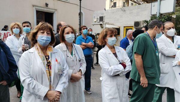 Νοσοκομείο Ευαγγελισμός, Νοέμβριος 12.11.2020 - Sputnik Ελλάδα