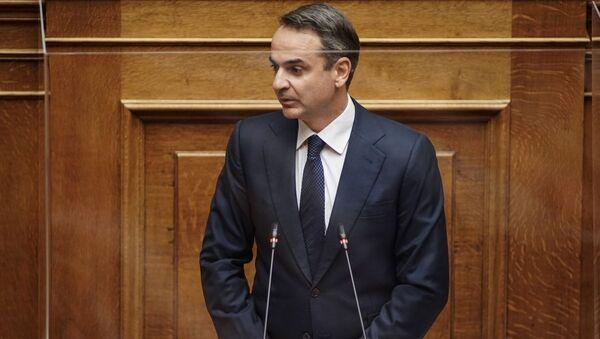 Ομιλία του Κυριάκου Μητσοτάκη στη Βουλή για την πορεία της πανδημίας. 12/11 - Sputnik Ελλάδα