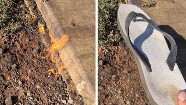 Άντρας σβήνει με την παντόφλα φωτιά στον κήπο του κι αυτή ξανανάβει - Sputnik Ελλάδα