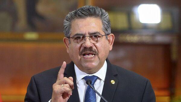 Παραιτήθηκε ο προσωρινός Πρόεδρος του Περού Μανουέλ Μερίνο - Sputnik Ελλάδα