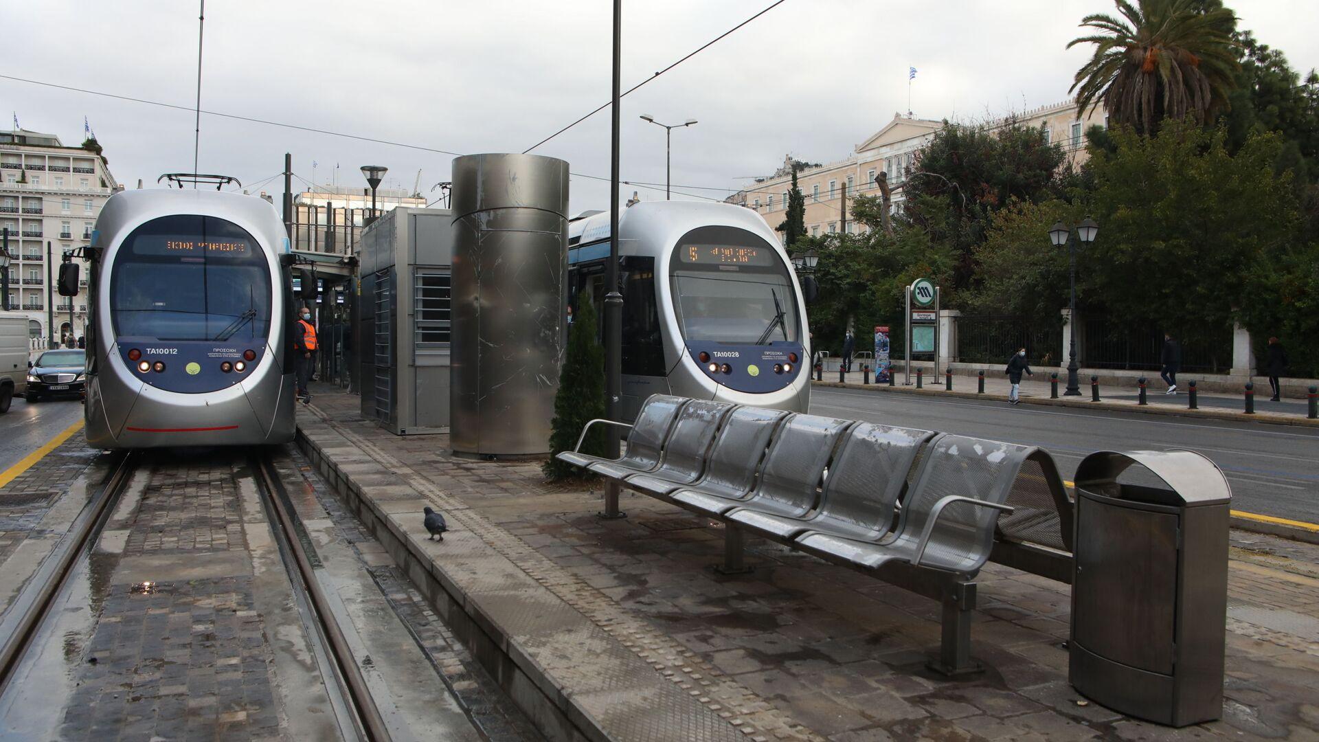 Τραμ στον σταθμό Συντάγματος - Sputnik Ελλάδα, 1920, 11.10.2021