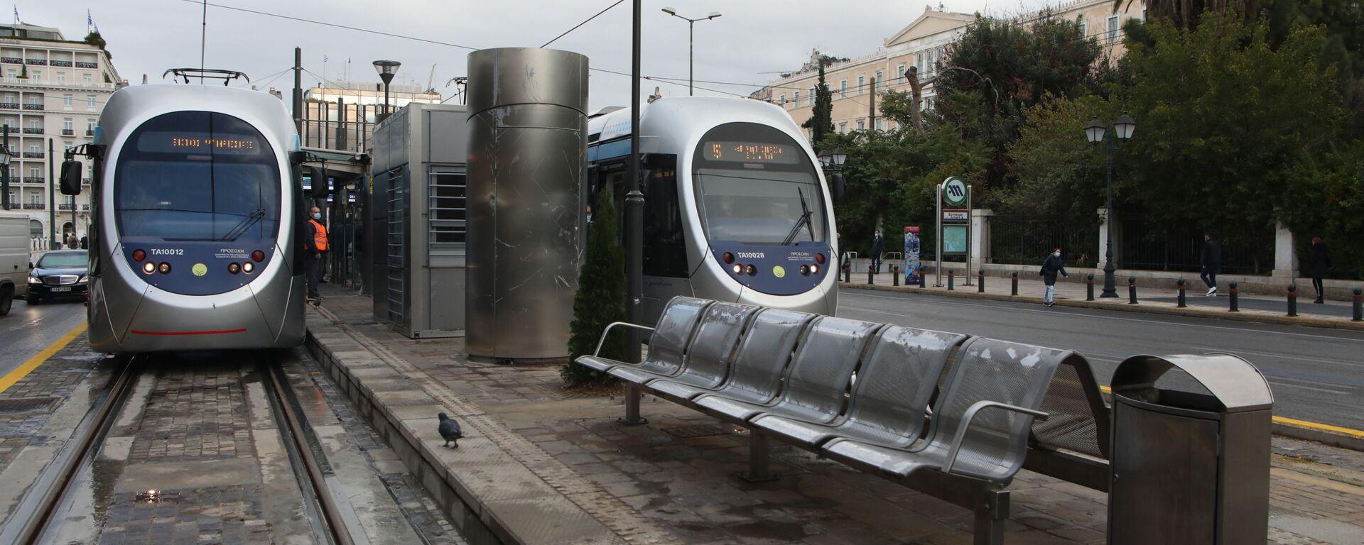 Τραμ στον σταθμό Συντάγματος - Sputnik Ελλάδα, 1920, 14.10.2021