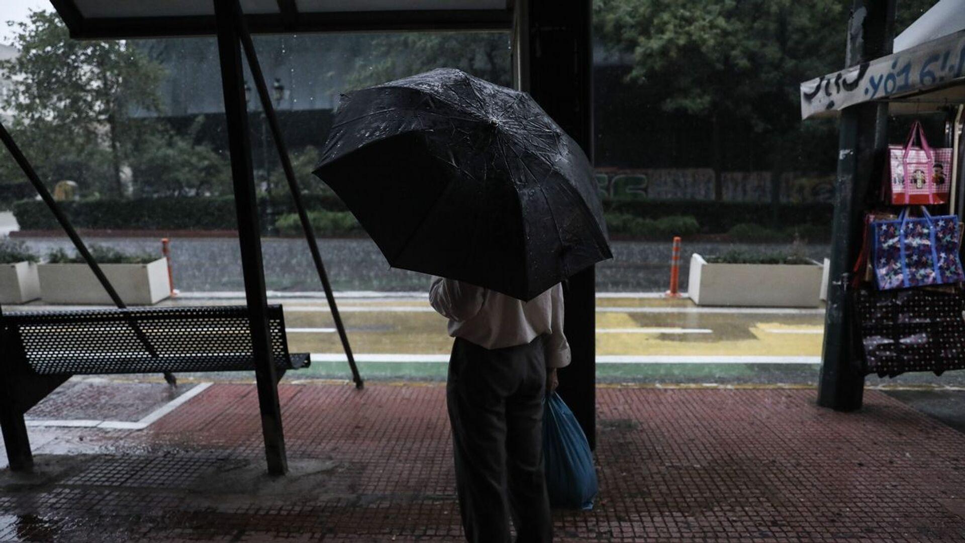 Βροχή στην Αθήνα - Sputnik Ελλάδα, 1920, 08.10.2021
