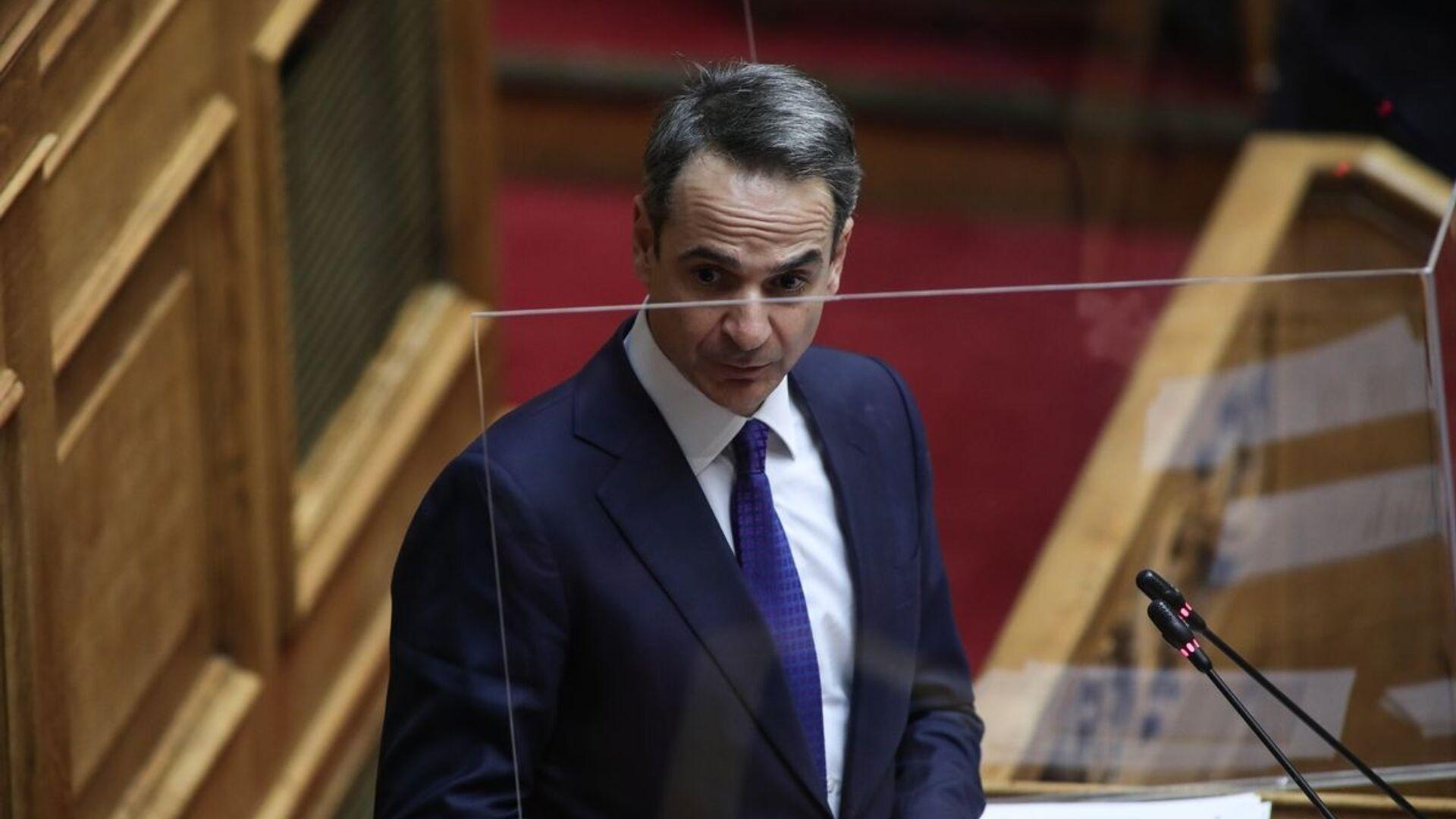 Κυριάκος Μητσοτάκης στη Βουλή - Sputnik Ελλάδα, 1920, 07.10.2021