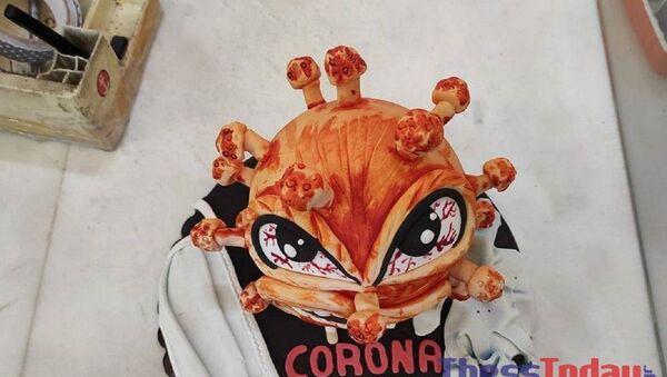 Ζαχαροπλαστείο στη Θεσσαλονίκη έφτιαξε κορονο-τούρτα - Sputnik Ελλάδα
