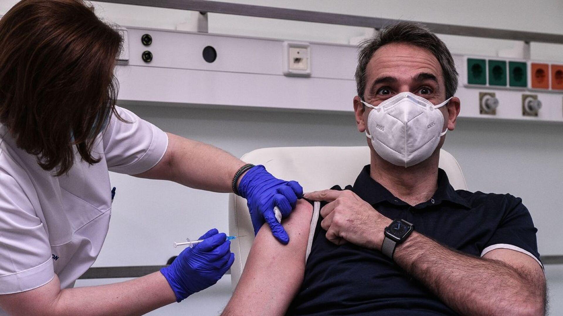 Έκανε το εμβόλιο ο Μητσοτάκης - Sputnik Ελλάδα, 1920, 11.10.2021