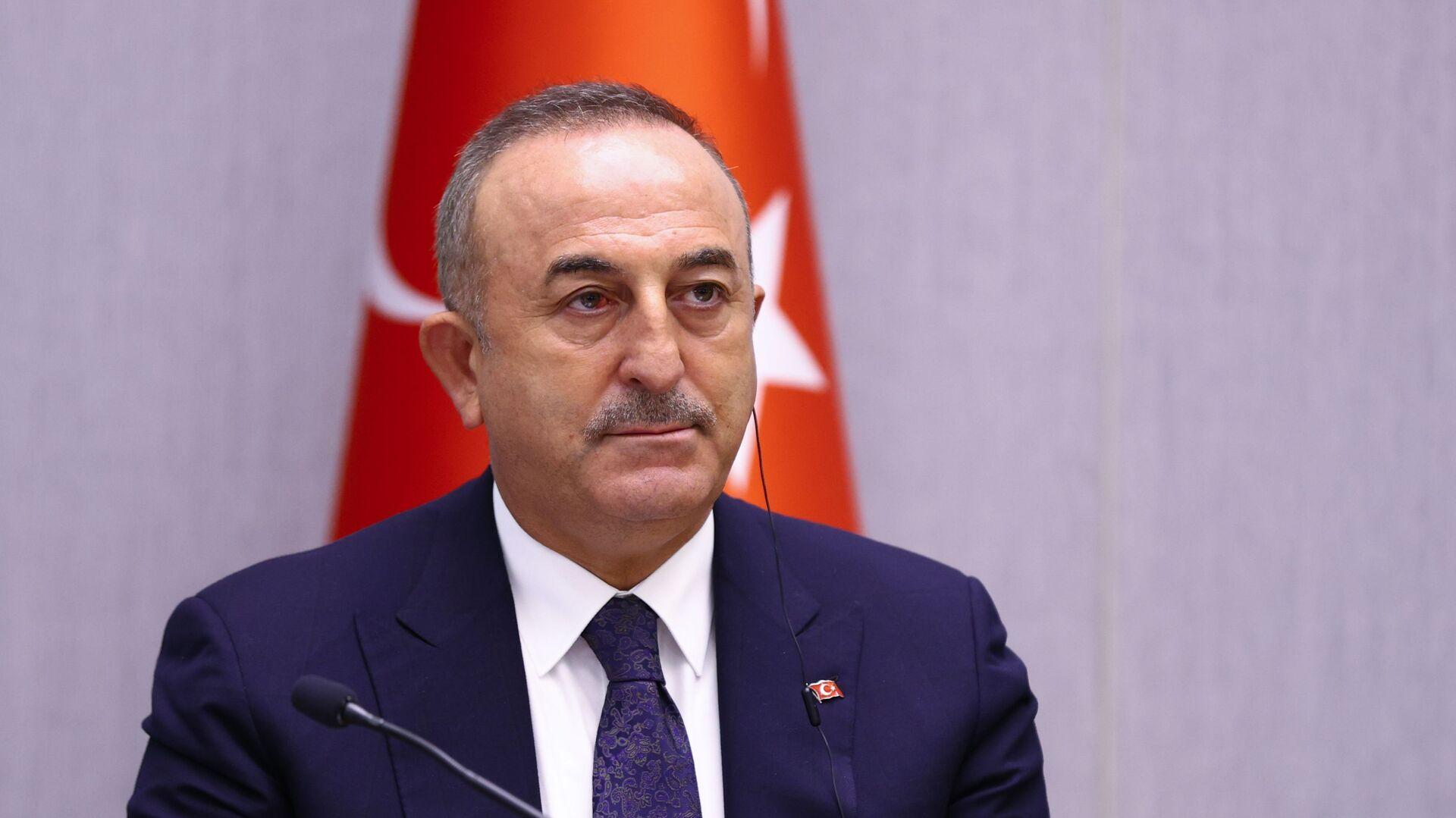 Ο Τούρκος υπουργός Εξωτερικών Μεβλούτ Τσαβούσογλου - Sputnik Ελλάδα, 1920, 14.10.2021