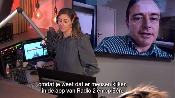 Στιγμιότυπο από τη διαδικτυακή συνέντευξη του Μπαρτ Ντε Βέφερ στην οποία δεν φορά το παντελόνι του, 2 Ιανουαρίου 2021 - Sputnik Ελλάδα