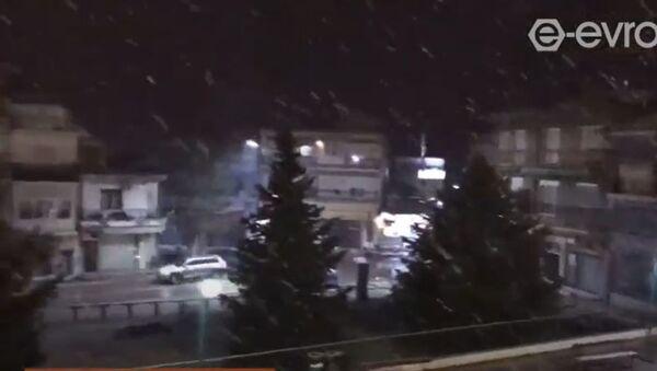Έντονη χιονόπτωση στον Έβρο - Sputnik Ελλάδα