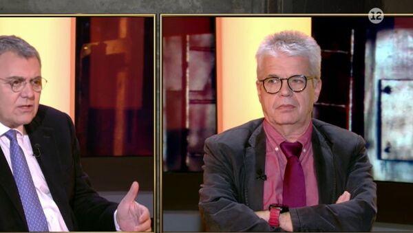 Ο Χαράλαμπος Γώγος στην εκπομπή «Τάκης Χατζής Direct» (ALPHA), 2 Φεβρουαρίου 2021 - Sputnik Ελλάδα