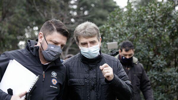 Σύσκεψη του υπουργού Προστασίας του Πολίτη, Μιχάλη Χρυσοχοΐδη και του υφυπουργού Πολιτικής Προστασίας, Νίκου Χαρδαλιά - Sputnik Ελλάδα