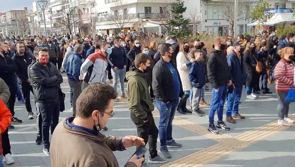 Συγκέντρωση διαμαρτυρίας στην Ορεστιάδα κατά της επέκτασης ΚΥΤ Φυλακίου - Sputnik Ελλάδα