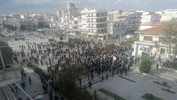 Συγκέντρωση στην Ορεστιάδα κατά της επέκτασης του ΚΥΤ Φυλακίου - Sputnik Ελλάδα