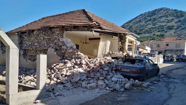 Γκρεμισμένο σπίτι στο Δαμάσι από τον σεισμό των 6 Ρίχτερ - Sputnik Ελλάδα