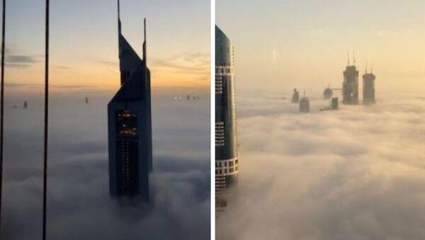 Απίστευτη θέα από ουρανοξύστες στο Ντουμπάι μέσα στα σύννεφα - Sputnik Ελλάδα