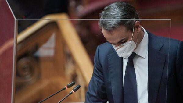 Κυριάκος Μητσοτάκης στη Βουλή - Sputnik Ελλάδα