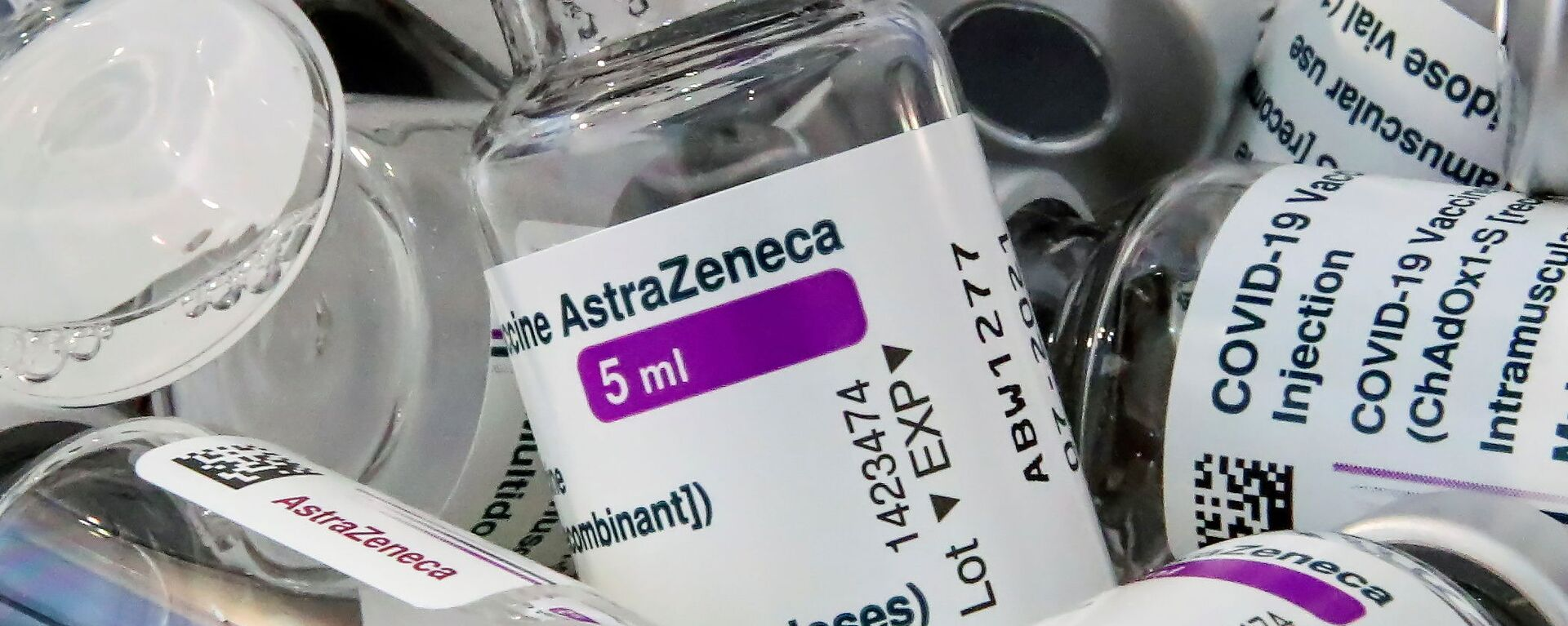 AstraZeneca's COVID-19 vaccine are pictured amid a vaccination campaign in Bierset, Belgium March 17, 2021 - Sputnik Ελλάδα, 1920, 14.06.2021