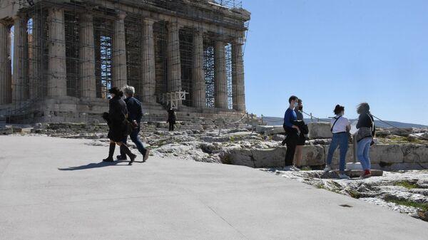 Λιγοστοί οι επισκέπτες στην Ακρόπολη - Sputnik Ελλάδα