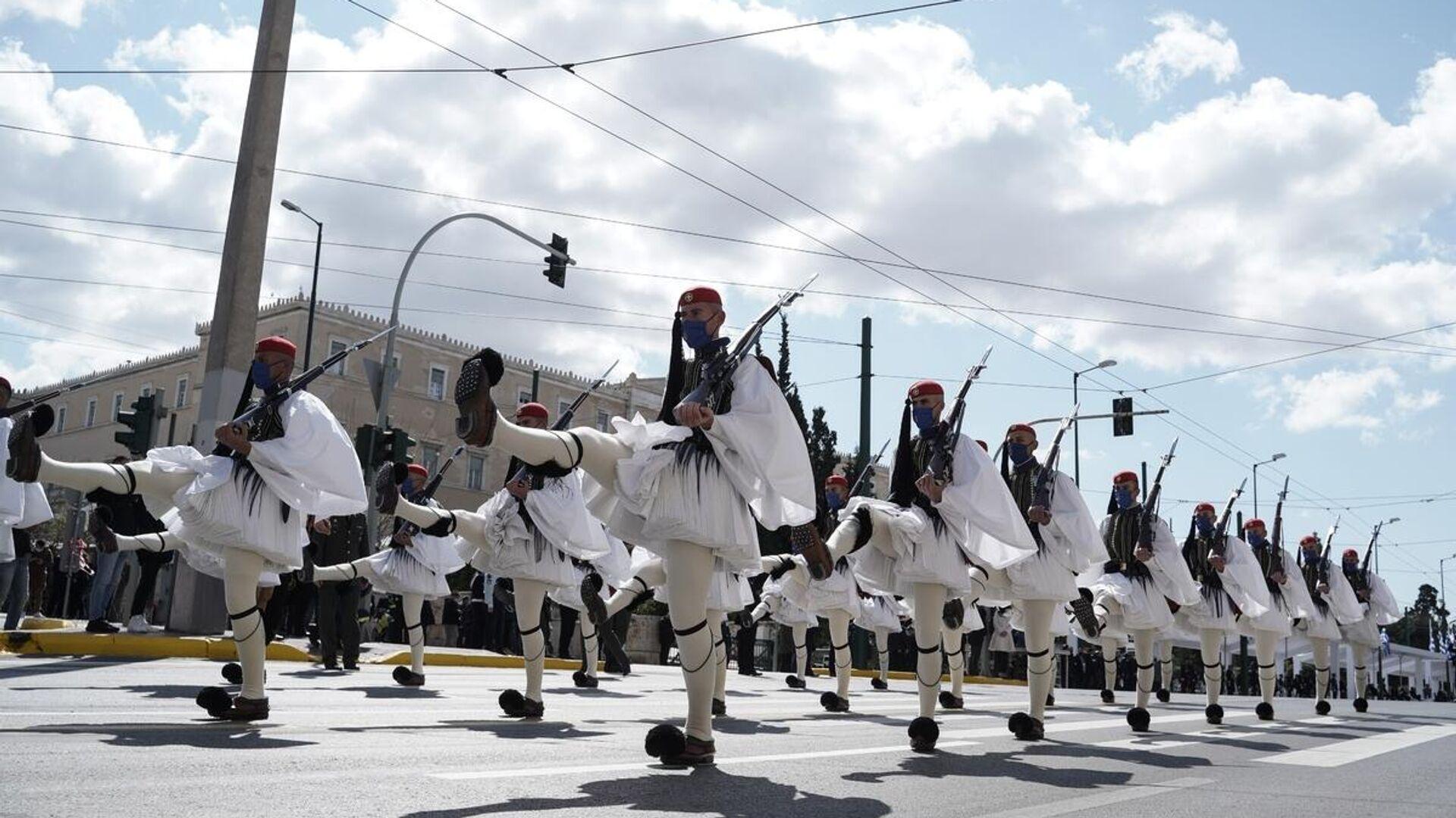 Στρατιωτική παρέλαση της 25ης Μαρτίου για τα 200 χρόνια από την ελληνική επανάσταση - Sputnik Ελλάδα, 1920, 02.10.2021