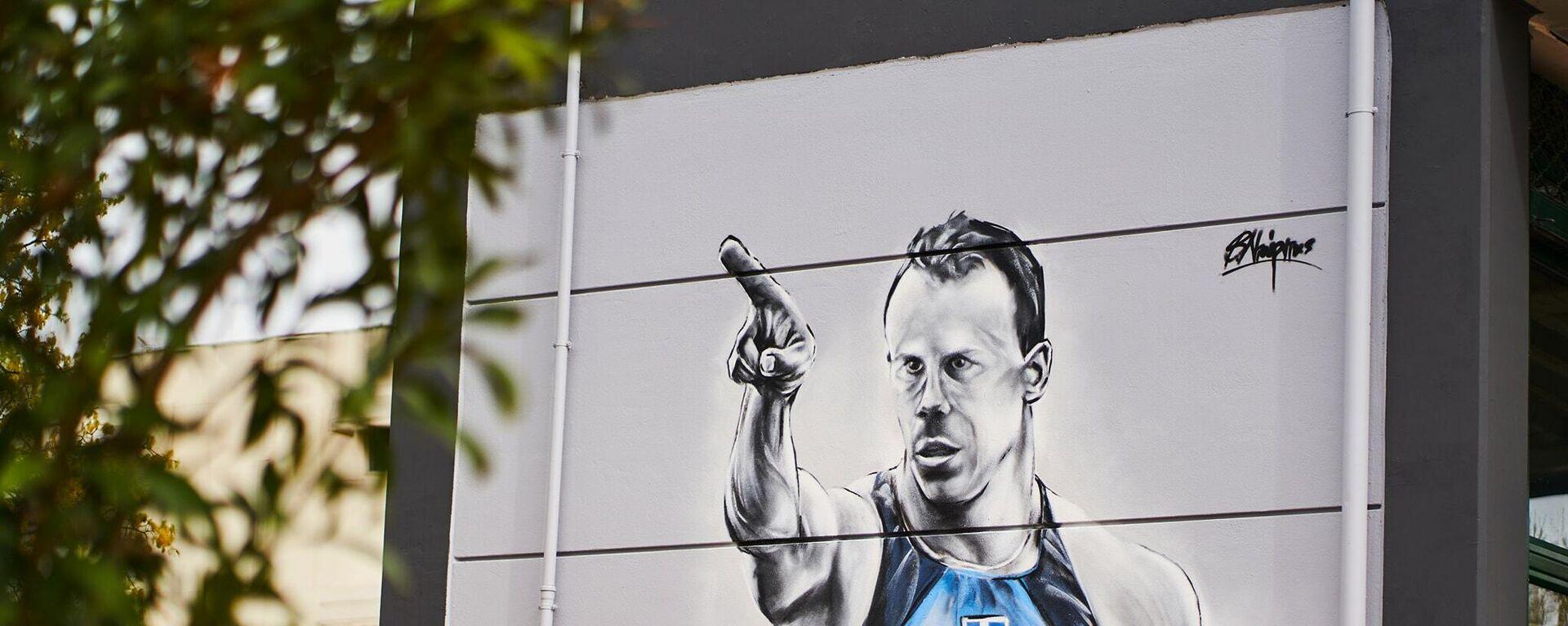 Το γκράφιτι του Κώστα Κεντέρη στο Ολυμπιακό Χωριό - Sputnik Ελλάδα, 1920, 29.09.2021