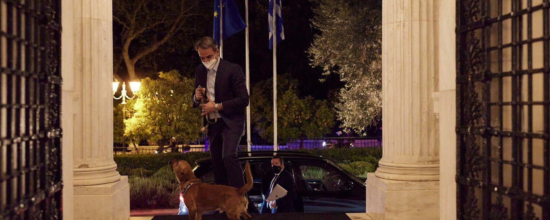 Ο Κυριάκος Μητσοτάκης υιοθέτησε σκυλάκι - Sputnik Ελλάδα, 1920, 18.04.2021