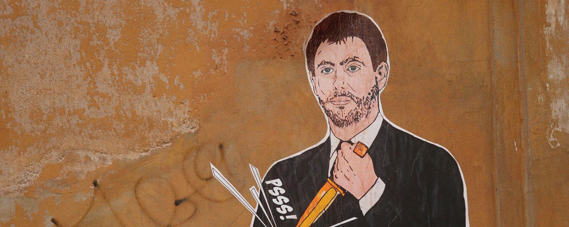 Γκράφιτι με τον Αντρέα Ανιέλι να σκάει μια ποδοσφαιρική μπάλα - Sputnik Ελλάδα, 1920, 24.04.2021