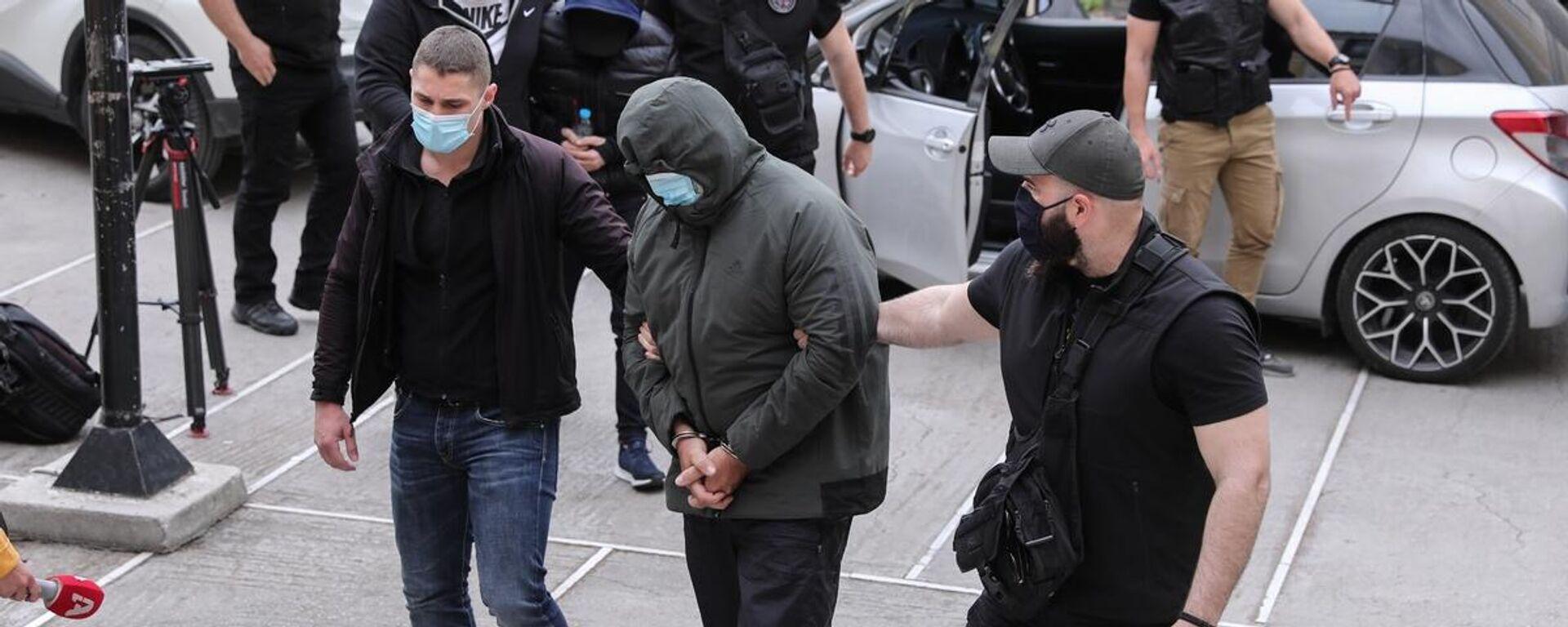 Ο παρουσιαστής Μένιος Φουρθιώτης οδηγείται στον εισαγγελέα - Sputnik Ελλάδα, 1920, 05.10.2021
