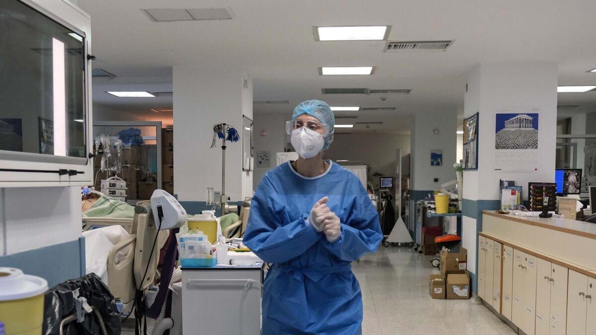 ΜΕΘ σε νοσοκομείο στην Αθήνα - Sputnik Ελλάδα, 1920, 05.10.2021