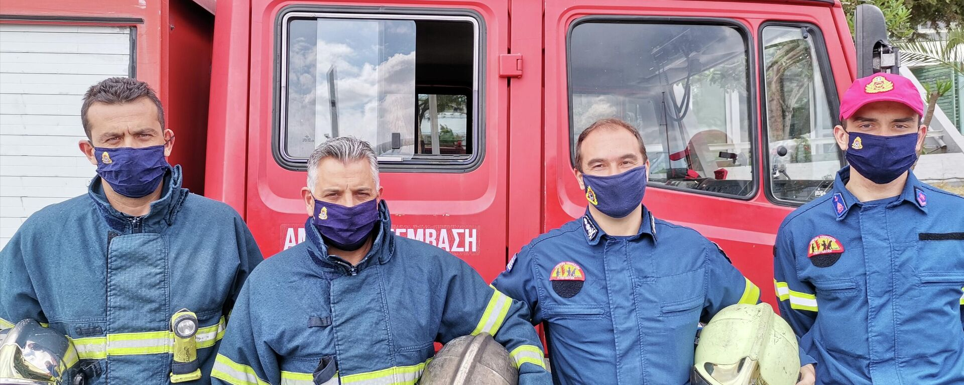 Πυροσβέστες στον 9ο πυροσβεστικό σταθμό Αθηνών - Sputnik Ελλάδα, 1920, 20.09.2021