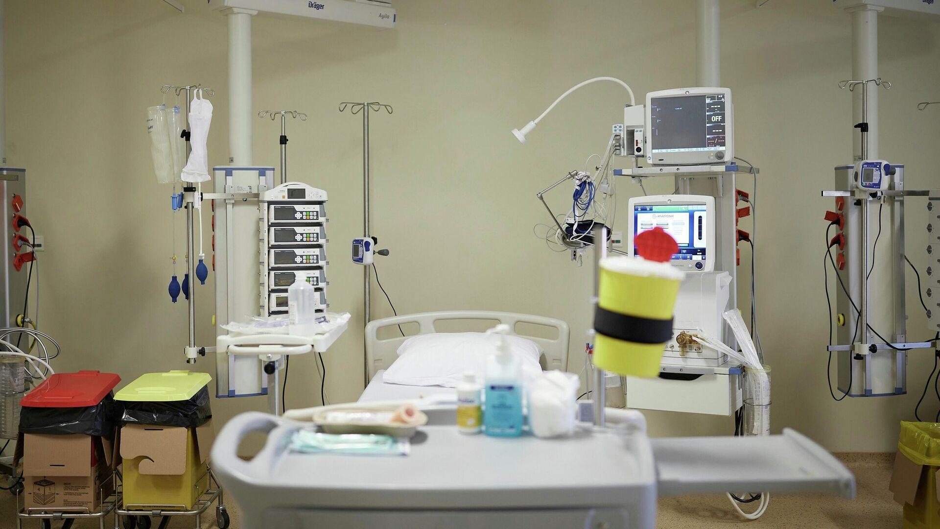 Ο Κυριάκος Μητσοτάκης στο Γενικό Νοσοκομείο Χαλκίδας - Sputnik Ελλάδα, 1920, 06.10.2021