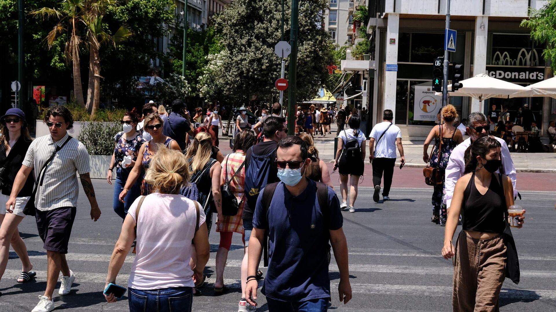 Κόσμος στην Αθήνα εν μέσω κορονοϊού - Sputnik Ελλάδα, 1920, 17.09.2021